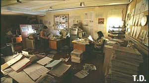 newspaper office